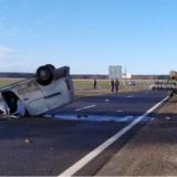 В Peugeot влетел в трактор и перевернулся на крышу: погиб пассажир