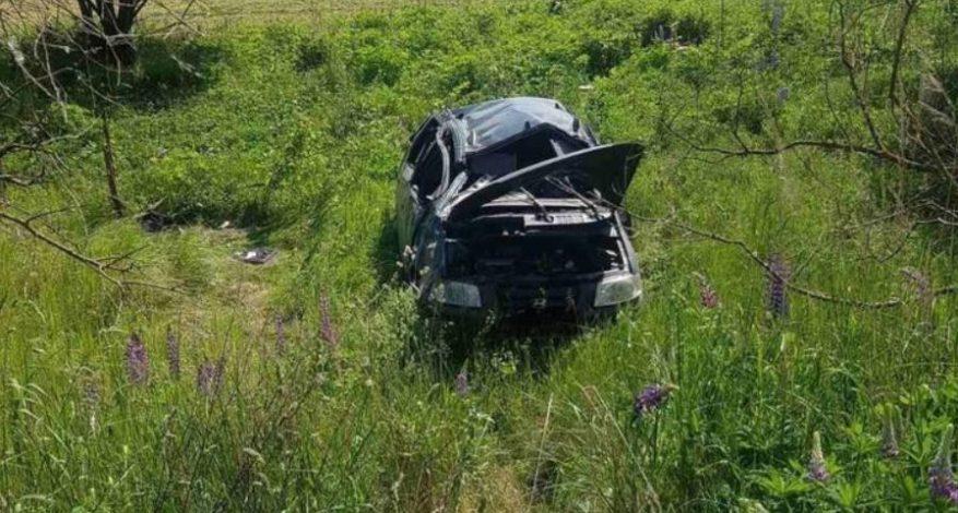 В Оршанском районе Hyundai вылетел в кювет и перевернулся: водитель погиб