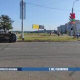 На Победителей столкнулись три автомобиля, один из них перевернулся: есть пострадавшие