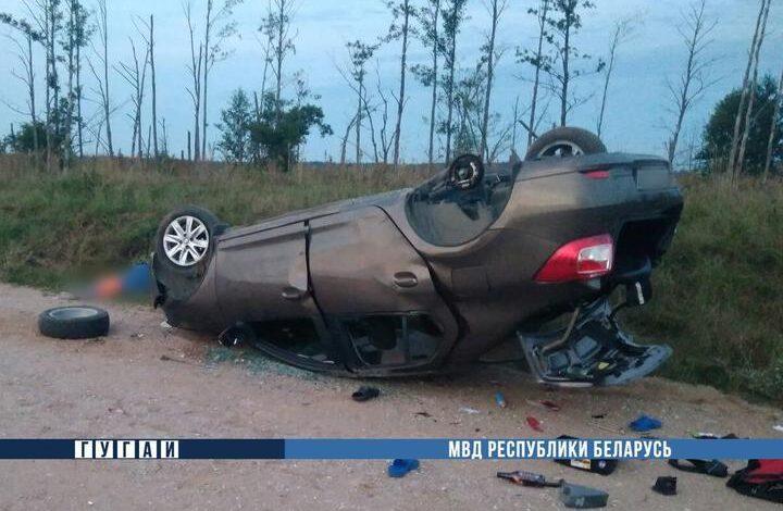 В Столбцовском районе Renault перевернулся на крышу: водитель и его 5-летний сын погибли